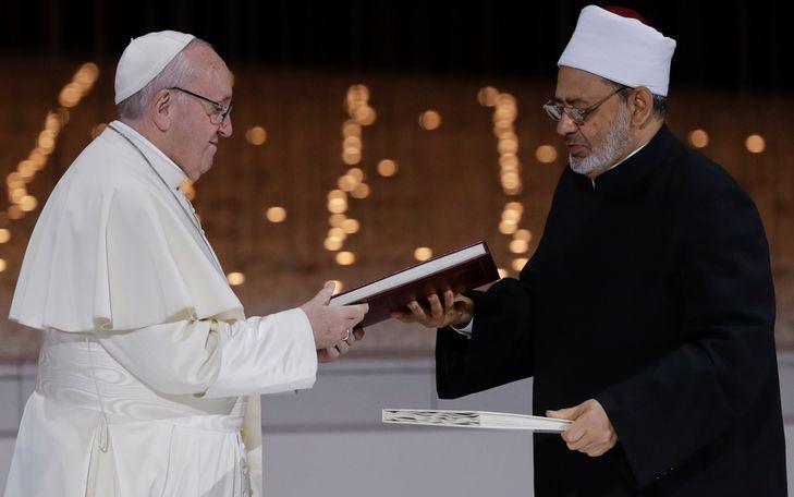 Pape François et Grand imam Al-Tayyeb